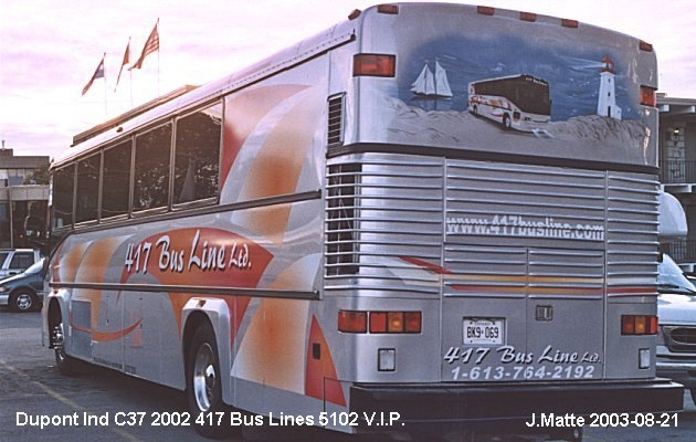 BUS/AUTOBUS: Dupont Industries C37 2002 417 Bus Line