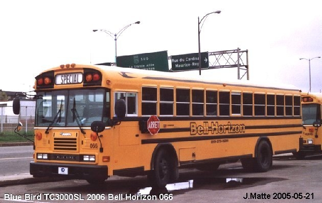 BUS/AUTOBUS: Blue Bird TC 3000 SL 2006 Bell-Horizon