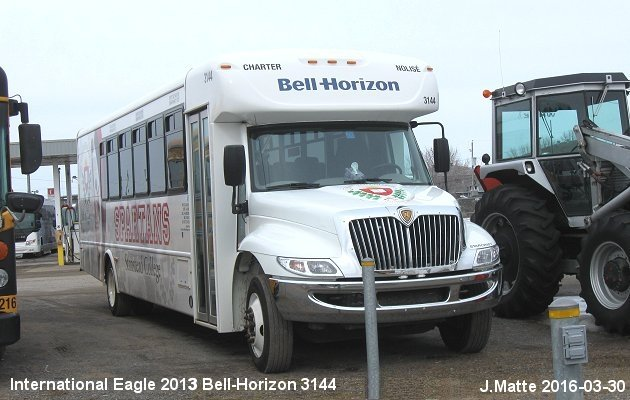 BUS/AUTOBUS: International Eagle 2013 Bell-Horizon