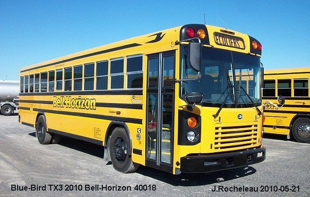 BUS/AUTOBUS: Blue Bird TX3 2010 Bell-Horizon