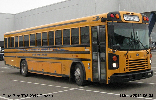 BUS/AUTOBUS: Blue Bird TX3 2012 Bibeau