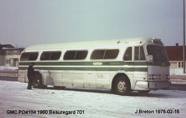 BUS/AUTOBUS: GMC PD4104 1960 Beauregard