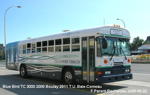 BUS/AUTOBUS: Blue Bird TC3000 2008 Boulay