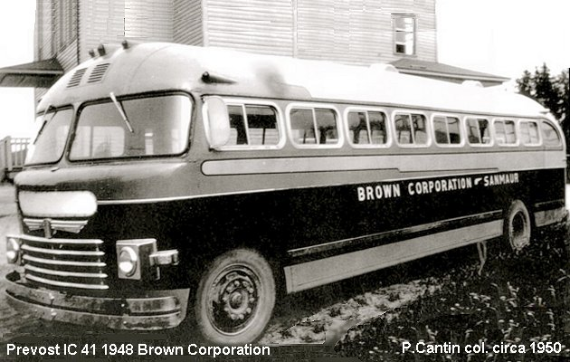 BUS/AUTOBUS: Prevost IC 41 1948 Brown Corporation