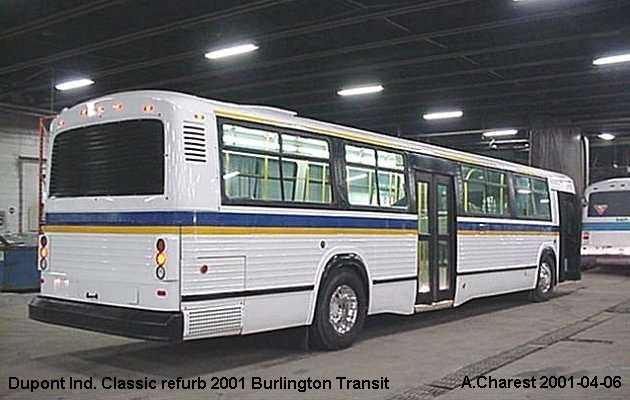 BUS/AUTOBUS: Dupont Industries Classic 2001 Burlington Transit Ont.