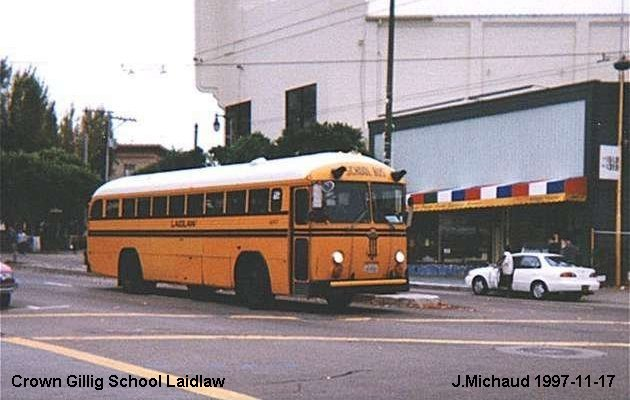 BUS/AUTOBUS: Crown/Gillig School 1990 Laidlaw (L.A)