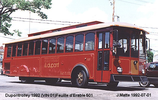 BUS/AUTOBUS: Dupontrolley Serie 500 1992 Dupont