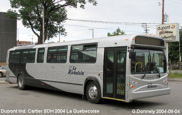 BUS/AUTOBUS: Dupont Industries Cartier 2004 Dupont