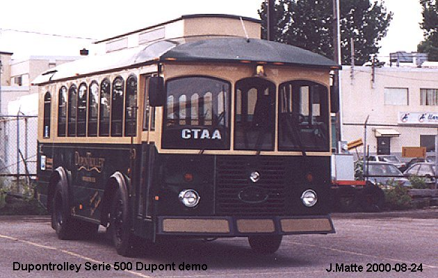 BUS/AUTOBUS: Dupontrolley Serie 500 2000 Dupontrolley