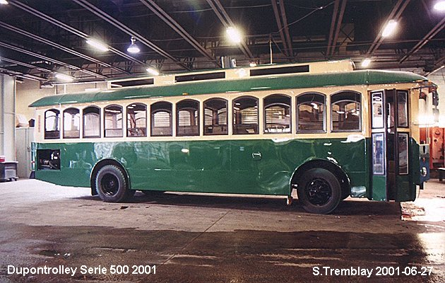 BUS/AUTOBUS: Dupontrolley Serie 500 2001 Dupontrolley