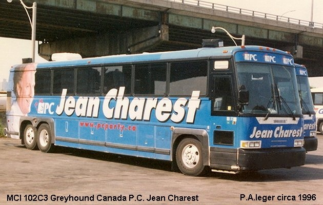 BUS/AUTOBUS: MCI 102C3 1996 Greyhound Canada