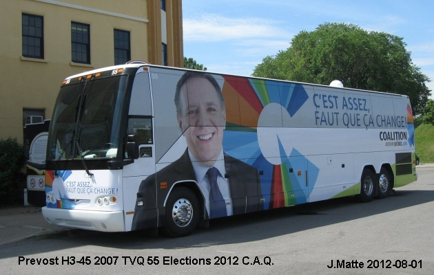 BUS/AUTOBUS: Prevost H3-45 2007 Election