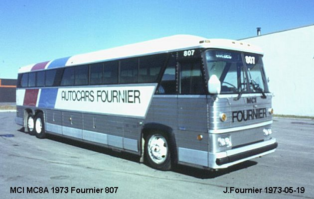 BUS/AUTOBUS: MCI MC 8 A 1973 Fournier