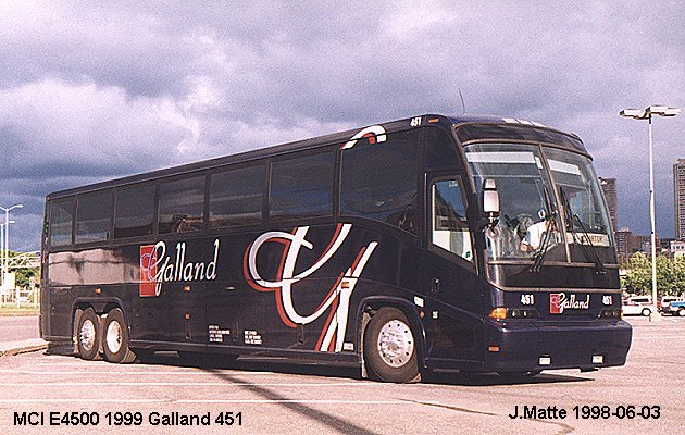 BUS/AUTOBUS: MCI E4500 1999 Galland