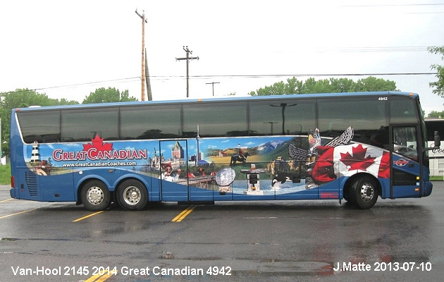 BUS/AUTOBUS: Van Hool 2145 2014 Great Canadian