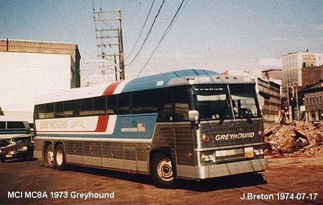 BUS/AUTOBUS: MCI MC8 A 1973 Greyhound