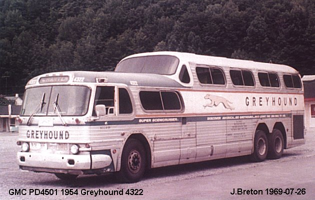 BUS/AUTOBUS: GMC PD 4501 1954 Greyhound