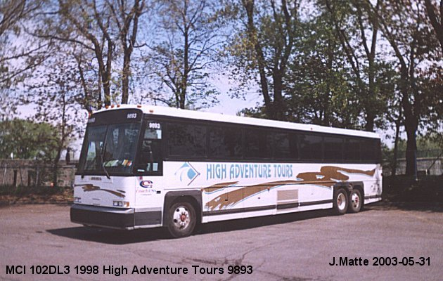 BUS/AUTOBUS: MCI 102DL3 1998 High Adventure