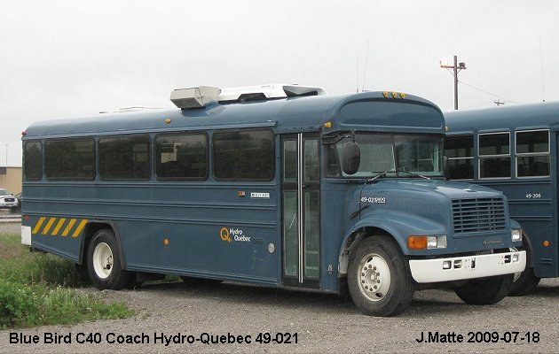 BUS/AUTOBUS: Blue Bird C40 2009 Hydro Quebec
