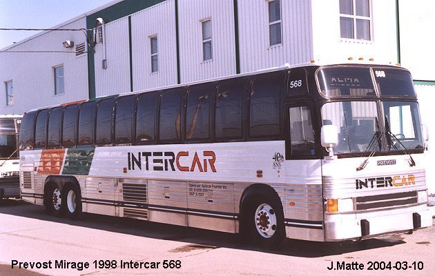 BUS/AUTOBUS: Prevost Mirage 1998 Intercar