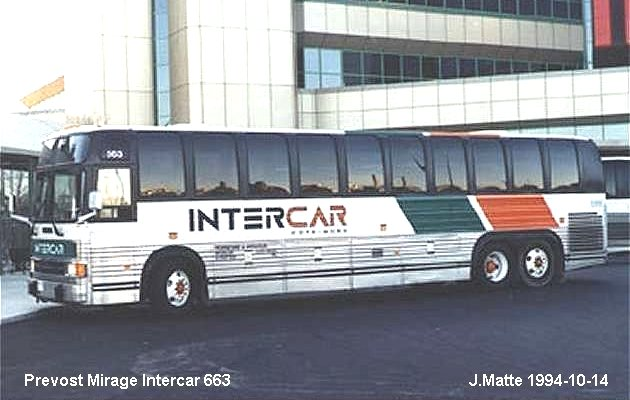 BUS/AUTOBUS: Prevost Le Mirage 1994 Intercar/Cote-Nord