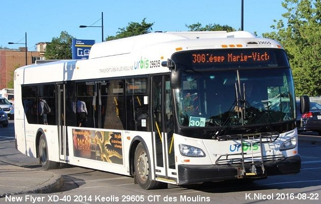 BUS/AUTOBUS: New Flyer XD40 2014 Keolis