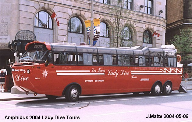 BUS/AUTOBUS: Amphibus 45 2004 Lady Dive Tours