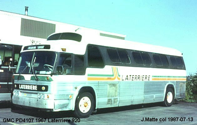 BUS/AUTOBUS: GMC PD4107 1967 Laterriere