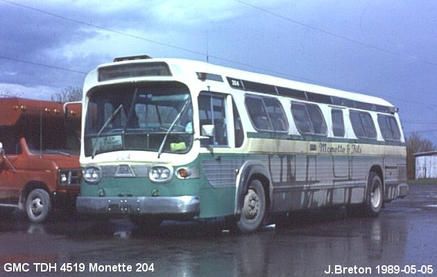 BUS/AUTOBUS: GMC TDH 4519 1962 Monette