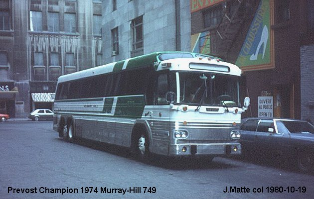 BUS/AUTOBUS: Prevost Champion 1974 Murray Hill