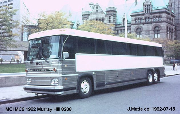 BUS/AUTOBUS: MCI MC 9 1982 Murray Hill