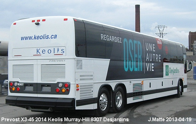 BUS/AUTOBUS: Prevost X3-45 2013 Keolis Murray-Hill