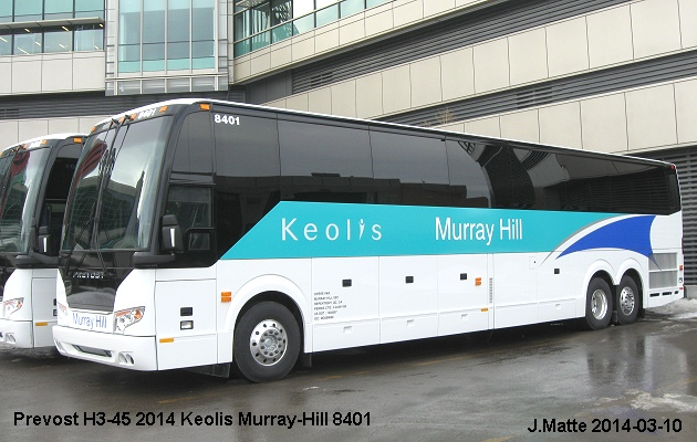 BUS/AUTOBUS: Prevost H3-45 2014 Murray-Hill Keolis