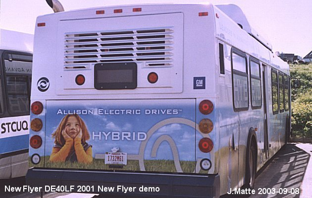 BUS/AUTOBUS: New Flyer DE40LF 2001 New Flyer