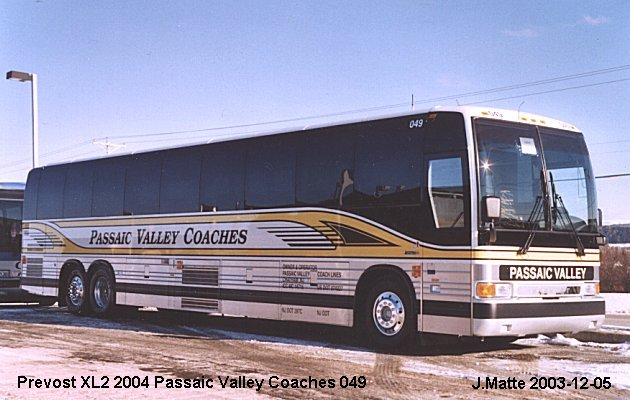 BUS/AUTOBUS: Prevost XL-2 2004 Passaic Valley Coaches
