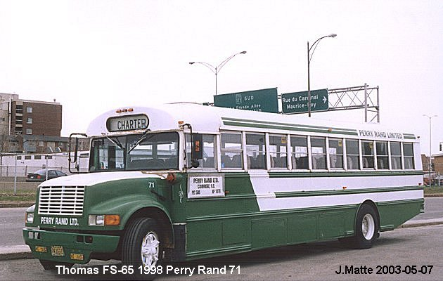 BUS/AUTOBUS: Thomas FS-65 1998 Perry Rand