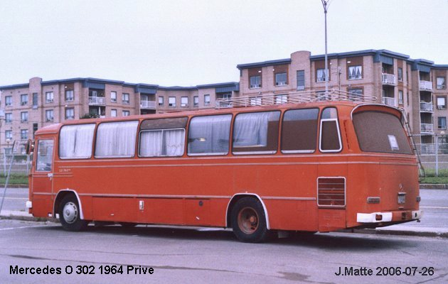 BUS/AUTOBUS: Mercedes O 302 1964 Prive