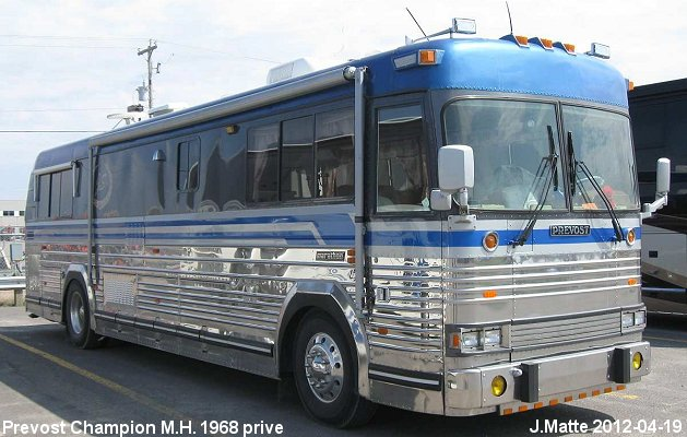 BUS/AUTOBUS: Prevost Champion 35 1968 Prive