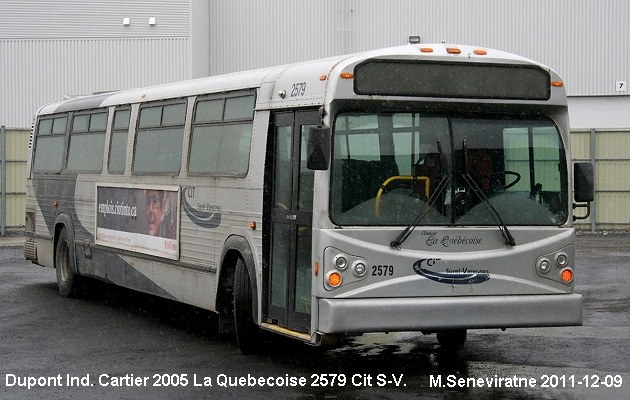 BUS/AUTOBUS: Dupont Industries Cartier 2005 Quebecoise