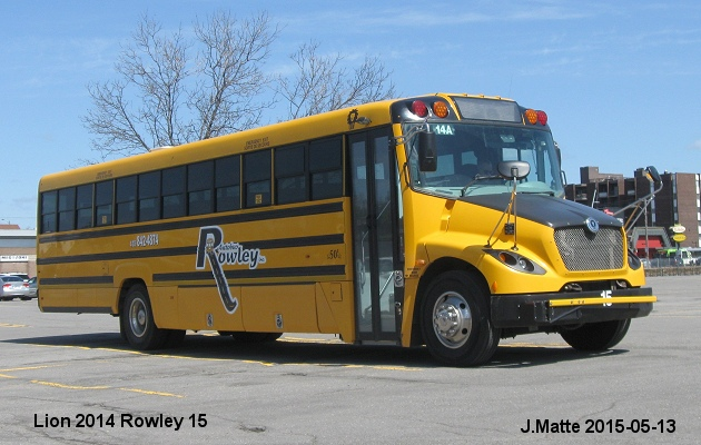 BUS/AUTOBUS: Lion C1 2014 Rowley