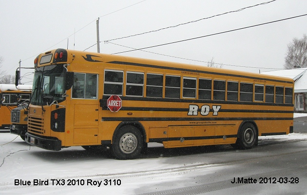 BUS/AUTOBUS: Blue Bird TX3 2010 Roy