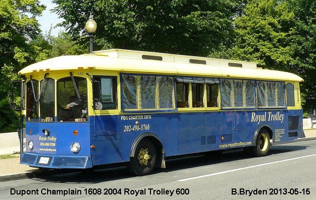 BUS/AUTOBUS: Dupontrolley Champlain 1608 2004 Royal Trolley
