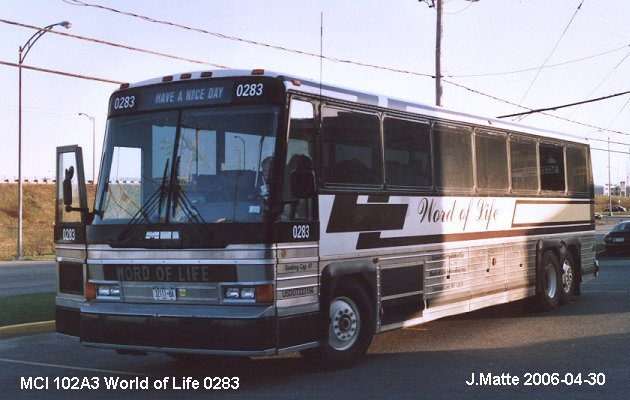 BUS/AUTOBUS: MCI 102A3 1989 Word of Life